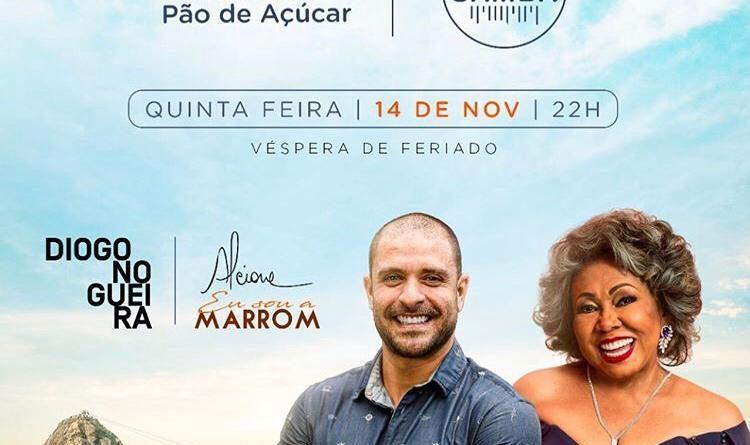 Diogo Nogueira e Alcione sobem o Morro da Urca na véspera do feriado